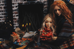 happy new year III (AzureFantoccini) Tags: newyear new year holidays winter fireplace stilllife christmas doll dollhouse miniature diorama bjd abjd balljointeddoll supia jiin ozin5 emon granado hybrid interior room dollroom