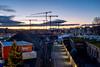 Morning@Hardbruecke: cranes in the sky (2/2) (jaeschol) Tags: europa hardbruecke hardbrücke kantonzürich kontinent kreis5 schweiz stadtzürich suisse switzerland