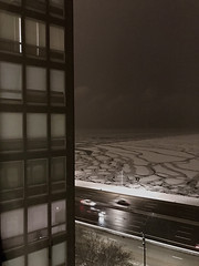 Frozen Lake (city of paris) Tags: 860880lakeshoredrive mies lakemichigan chicago ice frozen ludwigmiesvanderrohe