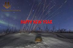 Happy New Year! (Mathieu Dumond) Tags: arctic nunavut kugluktuk canada winter newyear january vole tundra snow aurora northernlights mathieudumond umingmakproductions