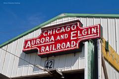 Chicago Aurora and Elgin (tim_1522) Tags: railroad railfanning illinoisrailwaymuseum irm union rail illinois il chicagoauroraandelgin neon station sign