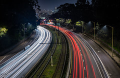 where is a train when you need one? (pbo31) Tags: bayarea california nikon d810 color dark night black boury pbo31 lightstream motion winter sanfrancisco city over infinity roadway traffic track sanjoseavenue muni bridge glenpark curve skyline salesforce silhouette red fairmount