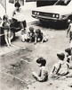 1960s and 1970s: Indigenous Brooklyn game of 'skully'. (Fotofricassee) Tags: gutter raw indigenous brooklyn street games children kids