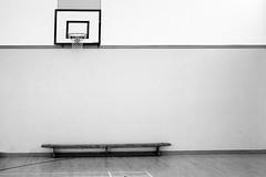 221 of Year 4 - Basket bench (Hi, I'm Tim Large) Tags: gym gymnasium bench basket basketball floor net 365 221 xpro2 35mm fuji fujifilm f14 xf monochrome blackandwhite bw