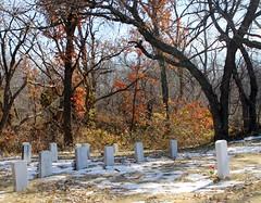 Native American Cemetery (jHc__johart) Tags: cemetery headstones snow fallcolor oklahoma