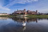 A swan in the river (Vagelis Pikoulas) Tags: swan river wawel castle fortress day blue reflection reflections bird canon 6d tokina 1628mm view landscape riverscape krakow poland november autumn travel