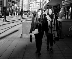 high street (LozHudson) Tags: manchester monochrome mono blackwhite blackandwhite fuji xt10 fujifilmxt10 people lightshade shadow lightshadow