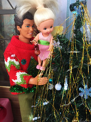 Christmas time :) (alenamorimo) Tags: barbie barbiedoll dolls barbiecollector kellydoll kendoll holidays christmas
