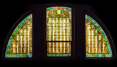 Stain glass windows in the historic 1908 Lakewood Memorial Chapel in Minneapolis, Minnesota,  The chapel was designed by architect Harry Wild Jones. (thstrand) Tags: 19001909 1908 1909 american animal animals arch architecturalstyle architecture artnouveaustyle arts artwork bird birds building buildings builtstructure chapels church colorful decorativeart early20thcentury eyes harrywildjones historicsite history inside interior interiors lakewoodcemetery mn memorialchapel minneapolis minnesota nationalregisterofhistoricplaces nobody owlmotif owls religion religious sacred sanctuary stainglasswindow stainedglass structures threewindows us usa unitedstatesofamerica visualarts wildlife windows wings