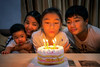 Happy birthday party for girl in family (I love landscape) Tags: birthday party family happy candles kids celebration cake children parents celebrating people boy blowing joy holiday moments child happiness toddler indoors adults out moment asia asian thai mother lady girl together kid woman love smiling table daughter son enjoying tenderness teen balloons candle food congratulating young memorable chinese home indonesian
