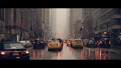 victory lap (Dj Poe) Tags: ny nyc newyork newyorkcity city street streets candid cinema cinematic color tones sony a7rii a7r2 sonyilce7rm2 sonya7r2 sonya7rii andrewmohrer availablelight naturallight canonef70200mmf28lisusm cab cabbie taxi yellowtaxi yellowcab snow snowing djpoe 2017 manhattan midtown westside