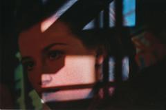 Cindy Tells Me (Jetcraftsofa) Tags: olympustrip35 zuiko4028 ultramax400 35mm compactcamera pointandshootcamera availablelight brianeno cindysherman windows shadows herecomethewarmjets