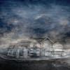 Boat by the Huts (Ali's view) Tags: multipleexposure beer sky beach boat beachhuts sea
