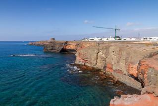 Rocky coastline beside Marina Rubucon