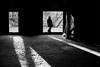 Run into (mntkondr) Tags: japan kanagawa ikuraryokuchi oldhouse man shadow backlight bw fuji fujifilm x100f