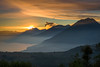 Volcanic Chain (neritron) Tags: lake water morning sunrise sun cloud cloudy yellow beauty volcan volcanoe vulcan mountain landscape color colorful nikon nikkor 2470mm f28 filter nd