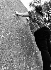 Outlander Dreaming (tbmouse) Tags: stone wishing outlander timetravel blackwhite