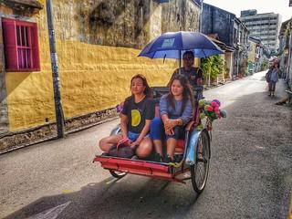 Penang Punch...3rd pic...Rickshaw Ride!