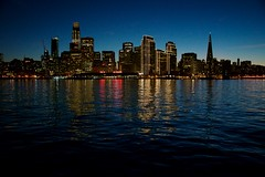 "Passage to San Francisco abroad the ""Marin."" (gcquinn) Tags: dusk ferry geoff geoffrey lowlight marin quinn sanfrancisco larkspur california usa"