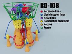 RD-108 (Sunder_59) Tags: lego moc render blender3d mecabricks rocket rocketengine engine space soviet