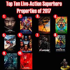 Top Ten Live-Action Superhero Properties of 2017 (AntMan3001) Tags: top ten liveaction superhero properties 2017