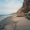 Stratigraphy (ADMurr) Tags: california beach coast pacific cliff geology kelp rolleiflex f 28 80mm zeiss planar kodak portra 2017 dab560 ocean rock sky cloud