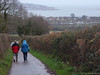 Drizzly walk (ExeDave) Tags: p1110012 starcross exe estuary teignbridge exmouth east devon sw england gb uk tidal river hightide coastal landscape waterscape seascape lane hedgebank trees famland rural hedge family peter tracey sea boxingday december 2017 drizzle rain hedgebottom verge standardtrees local walk walkers