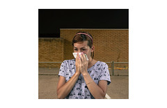 (WOGO*) Tags: young girl tissue blowing handkerchief portrait