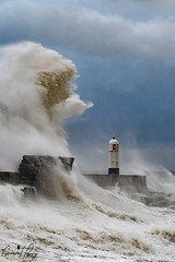 Porthcawl Lighthouse (geraintparry) Tags: south wales southwales geraint parry geraintparry sigma sigma105 150600 105mm d500 nikond500 porthcawl lighthouse storm brian sea coast wave waves windy wind sky water