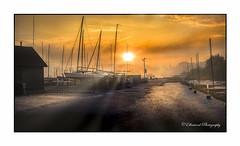 Newport Boat Yard (windshadow2) Tags: boats fog foggy ftadams newport ri sunrise boat