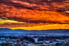 Flaming Frigid Finale - Roanoke Sunset (Terry Aldhizer) Tags: frozen flames finale roanoke valley blue ridge mountains virginia city highway 460 sky clouds sunset twilight terry aldhizer wwwterryaldhizercom frigid