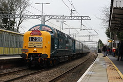 Deltic 55009 (Liam Blundell Photography) Tags: deltic roby train station drs dps 1z29 1z30 1z31 rare supershot d9009 55009 class 55 68 68031 york liverpool lime street pathfindertours pathinder old mk3 clag thrash merseyside