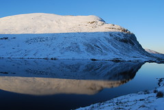 Grisedale Tarn and Dollywaggon Pike (J_Piks) Tags: lakedistrict cumbria hills mountains snow helvellyn dollywaggonpike grisedaletarn tarn reflection