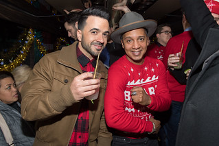 Luis Fonsi with Juan Coronado (Bacardi brand ambassador) | Photo: Ryan Emberley