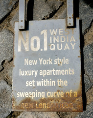 aspirations (n.a.) Tags: newyork style apartments curve west india quay icon london sign residential rusted