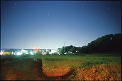(✞bens▲n) Tags: pentax lx kodak e100g fa 31mm f18 limited film analogue slide japan nagano night dark longexposure landscape fields nightscape stars