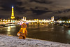 Gingerbread man in Paris (Ballou34) Tags: 2017 7dmark2 7dmarkii 7d2 7dii afol ballou34 canon canon7dmarkii canon7dii eos eos7dmarkii eos7d2 eos7dii flickr lego legographer legography minifigures photography stuckinplastic toy toyphotography toys stuck in plastic christmas gingerbread cookie paris light eiffel tower seine river îledefrance france fr