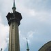 Wilkes-Barre  Pennsylvania - Irem Temple Mosque - Shriners Headquarters  -  Now Abandon  - Minaret  -  Beacon