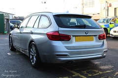 Unmarked Traffic Car (Ben - NorthEast Photographer) Tags: durham constabulary bmw 330d 3series touring unmarked police interceptors anpr traffic car rpu roads policing unit 999 emergency vehicle blue lights