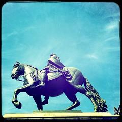 CDMX (My Journey Mexico) Tags: publicmonument monument horsesculpture bronzehorse sculpture horse sarahzambiasiphotography cdmx centrohistorico mexicocity hipstamatic iphonephotography sarahzambiasi