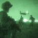 U.S. Marines train during night exercise in Italy.