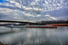 Working the River on the Winter Solstice (kendoman26) Tags: hdr nikhdrefexpro2 niksoftware nikon nikond7100 illinoisriver barge watertraffic tokinaatx1228prodx tokina tokina1228