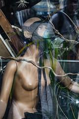 Friedrichshain Shop Window (Lens Daemmi) Tags: berlin friedrichshain mannequin gas mask shop window