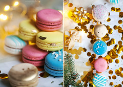 Christmas menu (Yulchonok) Tags: macaron happiness diptych holiday winter food dessert