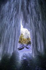 Through the Ice (Tom Gill.) Tags: ice winter waterfall frozen icefall illinois starvedrock statepark