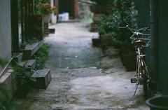 : (june1777) Tags: snap street alley seoul bukchon bicycle bokeh dof kyocera contax n1 carl zeiss n planar nplanar 85mm f14 konica centuria 100 expired
