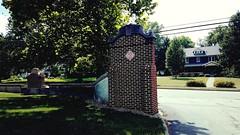 M Kirby Hosp (Allen F. Moore Estate) c1912 Brick Fence, 1111 N. State St, Monticello, IL 20170731-08 (RLWisegarver) Tags: piatt county history monticello illinois usa il