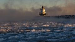 iced in (paul noble photography) Tags: maine mainephotographers morning mainecoast mysterious morninglight seasmoke interestingness interesting insanelight iceformations nikond7000 nikon nikon2470mmf28