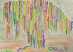 Happy Carnival Season ~ Twelfth Night! (BKHagar *Kim*) Tags: bkhagar twelfthnight carnival season watercolor beads beadtree painting paint