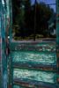 forgotten door (kris.notaro) Tags: door green turquoise forgotten reflection glass window abandoned deserted paint peeling flake flaking desquamate rebel xt eosrebel urbex